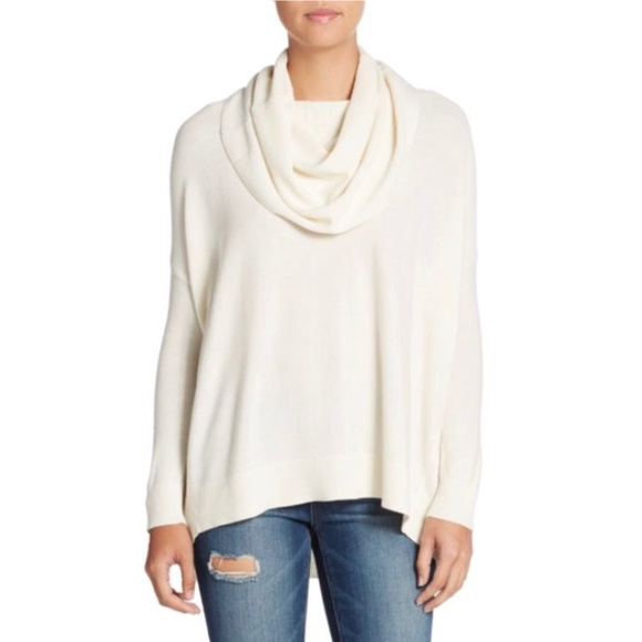 Joie Melantha Loose Cowl Neck Sweater in Chalk